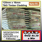 shiplap timber cladding 125mm16mm shed cladding only £1.18p a meter 100m minimum