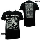 Authentic DISCHARGE Band Why? Album Cover Slim Fit T-Shirt S M L XL 2XL NEW