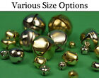 Silver or Gold Jingle Bells for Crafts - 10mm, 13mm, 18mm, 25mm, 38mm & 50mm