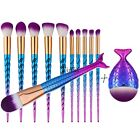 12pcs Unicorn Women Makeup Brushes Foundation Set Cosmetic Blush Face Powder TXW