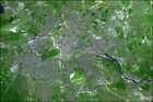 Poster, Many Sizes; Berlin Satellite Image Of Berlin, Germany. The Yellow Line M