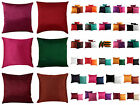 "16"" Indian Cushion Cover Pillow Case Plain Polydupion Art Silk Ethnic Home Decor"