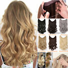 Straight Wavy Real Thick Wire Headband One Piece No Clip in Hair Extensions Flk