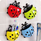 Family Toothbrush Holder Lovely Strong Sucker Vacuum Suction Cup Ladybug