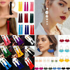 Vintage Thread Tassel Fringe Earrings Women Drop Dangle Earrings Jewelry Fashion