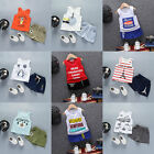New Cute Baby Boys Clothes set Summer T-Shirt Short Pants Kids Outfits 4Sizes