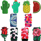 3D Cute Summer Rose Soft Silicone Case Cover Back Skin For iPhone 5 6 6s 7 Plus