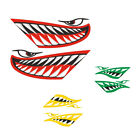 2x Vinyl Shark Teeth Mouth Decal for Kayak Boat Airplane Motorcycle Car Truck