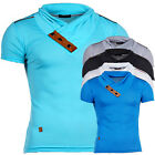 ReRock by HEADLINE T-Shirt V-Neck Herren Hemd Slim Fit Polo Ground RR-1234