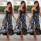 Women Summer Boho Chiffon Party Evening Beach Long Maxi Dress Sundress