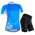 Bicycle Uniforms For Women Bike Shorts Padded Clothing Cycling Jersey Kits Blue