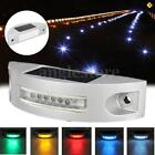 Outdoor 6LED Solar Panel Solar Powered Light Road Path Driveway Ground Step Lamp