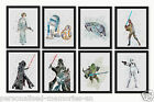 Star Wars Watercolour Wall Prints 17 styles to choose from  Sizes:10 x8, A4, A3 $14.0 AUD