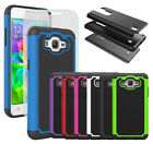 Heavy Duty Hybrid Hard Protective Rubber Phone Case Cover with Screen Protector
