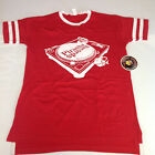 Official Piranha Records Turntable Red Vintage Style Screen Printed Shirt S-3XL