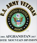 AFGHANISTAN 2001-2017: 10TH MOUNTAIN DIVISION*  U.S.ARMY VETERAN EMBLEM*SHIRT image