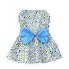Summer Pet Dog Cotton Floral Printed Dress Cat Dog Clothes With Bow XS/S/M/L/XL