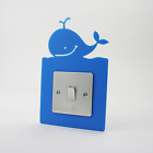 Whale Switch Surround, Ocean, Bedroom, Playroom, Nursery, Bathroom, 36 Colours