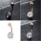 Belly Button Rings Crystal Rhinestone Navel Bar Body Piercing Jewelry New