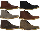 Mens Delicious Junction Crowley Lace Up Leather Ankle Desert Boot Sizes 6 to 12