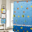 Home Collections Shower Curtain with 12 Polyresin Hooks in 3 Unique Styles