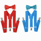Внешний вид - Elastic Adjustable Suspender and Bow Tie Matching Set for Boys Girls Child Kids