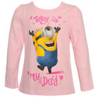 "Despicable Me Little Girls Pink Minions ""Today Is My Day"" Printed Top 4-6X"