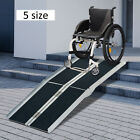 4ft/6ft/8ft/10ft Aluminum Multifold Wheelchair Scooter Mobility Ramp Threshold