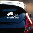 Nobody Cares About Your Stick Figure Family Decal-Funny Car Vinyl Window Decal