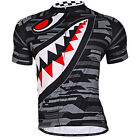 Men's Bike Shark Jerseys Team Racing Cycle Shirts Top Breathable Bicycle Clothes