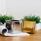 Square Glazed Plating Ceramic Plant Flower Pot box Planter For Home Garden Decor