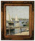 Caillebotte Sailing Boats Argenteuil 1888 Wood Framed Canvas Print Repro 11x14