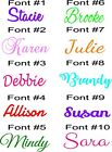 Personalized Name Monogram Wall Decal Sticker photo