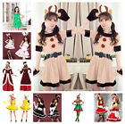 Christmas Ms Ladies Womens Santa Claus Rabbit Xmas Fancy Dress Costumes Outfits