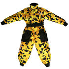 LEO Kids Motocross Camo Race Suit YELLOW Off Road Quad Motorbike Clothing Youth