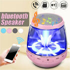 Portable LED Stereo bluetooth Speaker Wireless Bass USB FM Radio AUX USA