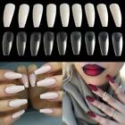 600pcs Long Ballerina Coffin Shape Full Cover False Fake Nails Art Tips Decor
