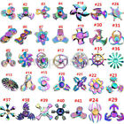 High Speed Focus Toy Rainbow Hand Fidget Spinner Stress Titanium Metal Alloy EDC