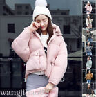 Women Winter Coat Down Batwing Quilted Hooded Puffer Crop Jacket Outerwear