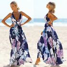 Women Summer Boho Backless Long Maxi Dress Evening Cocktail Party Beach Dresses