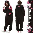 Cute HelloKitty Cat Cosplay Kigurumi Unisex Sleepwear One-piece Pajamas Overalls