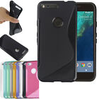 For Google Pixel & Pixel XL- S-Line Soft Silicone Gel Grip TPU Case Cover Holder