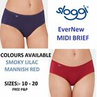 Sloggi EverNew Midi Brief  Smoky Lilac and Mannish Red Sizes UK 10 - 20 NEW