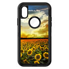 OtterBox Defender for iPhone 7 8 PLUS X XS Max XR Green Blue Yellow Sunflowers