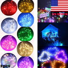 US 2pcs LEDs Mini LED Copper Wire String Fairy Lights Outdoor Battery Operated