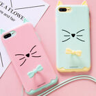Cute Cat Finger Ring Holder Lanyard Shockproof Cover Case For iPhone 7/7 Plus