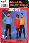 VTG Star Trek TOS Cosplay Uniform Rare SEW Pattern w3 insignias Simplicity 8028