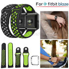 Silicone Fitness Replacement Wrist Strap +Steel Frame For Fitbit Blaze Watch