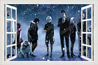 Tokyo Ghoul Wall poster 3D Wall Stickers Bronze tree blank window Anime Stickers