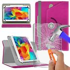 For Vodafone Tab prime 6 Tablet - Glass & Rotating PU Leather Case